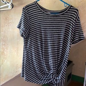 Old navy Grey and White Striped Shirt